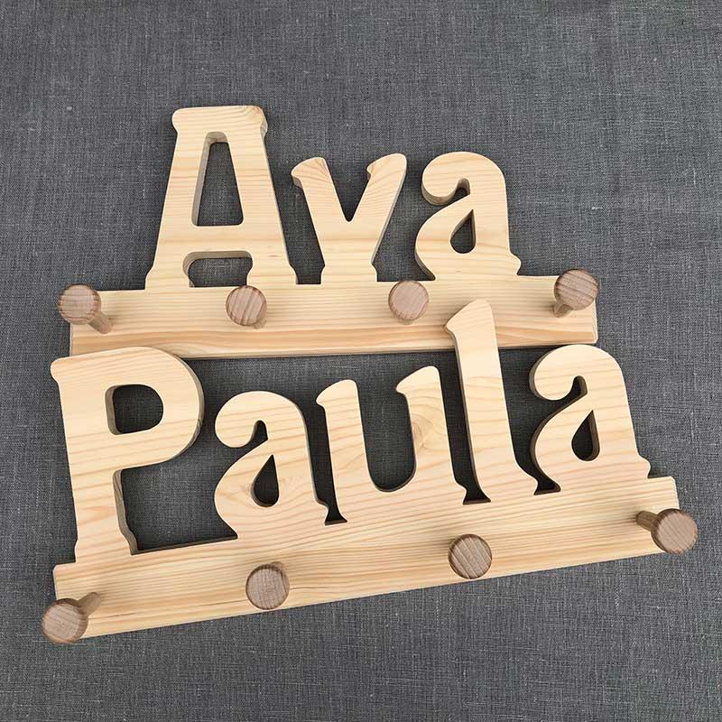 Holzgarderobe Ava und Paula