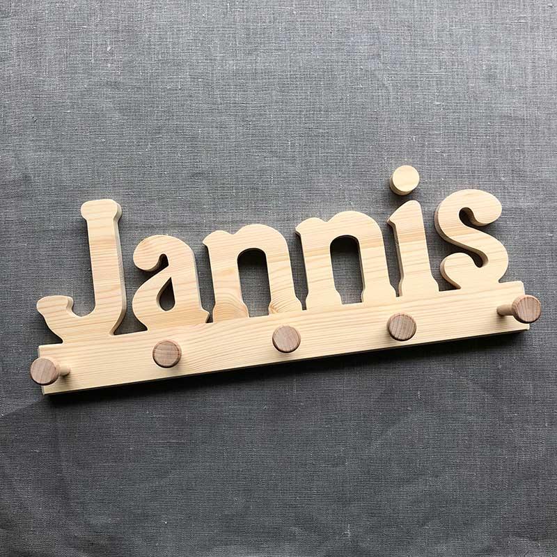 Holzgarderobe Jannis