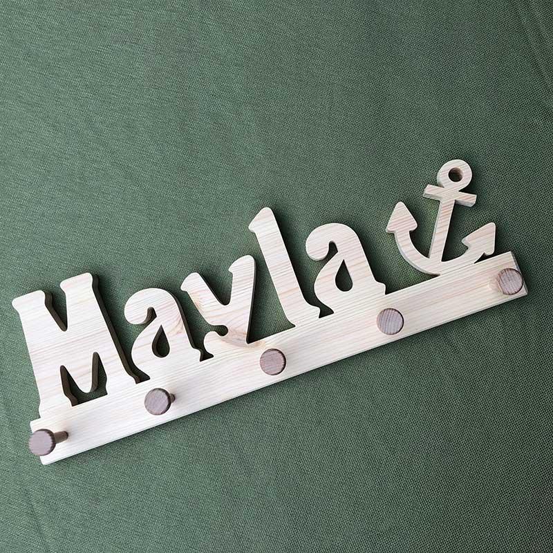 Holzgarderobe Mayla mit Anker
