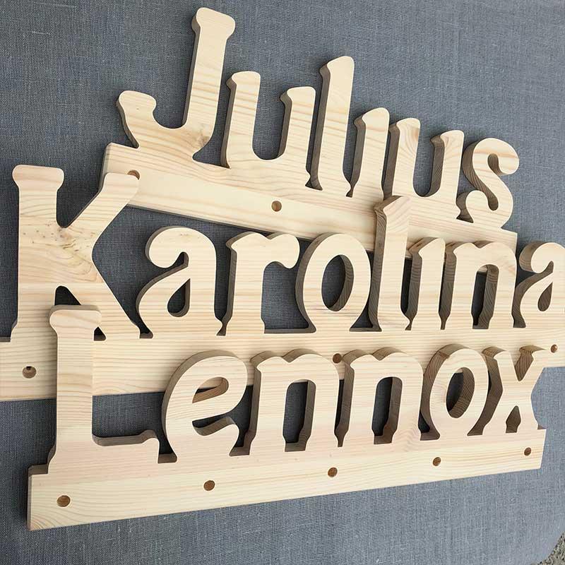 Holzgarderoben Julius, Karolina und Lennox
