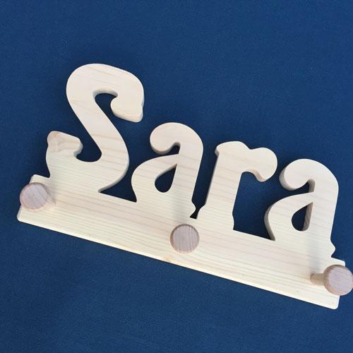 Holzgarderobe Sara